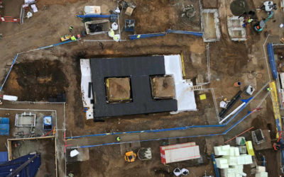 How do you construct a difficult shaped Attenuation tank whilst ensuring integrity of the system?